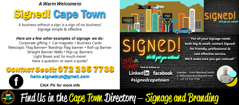 Signed! Cape Town
