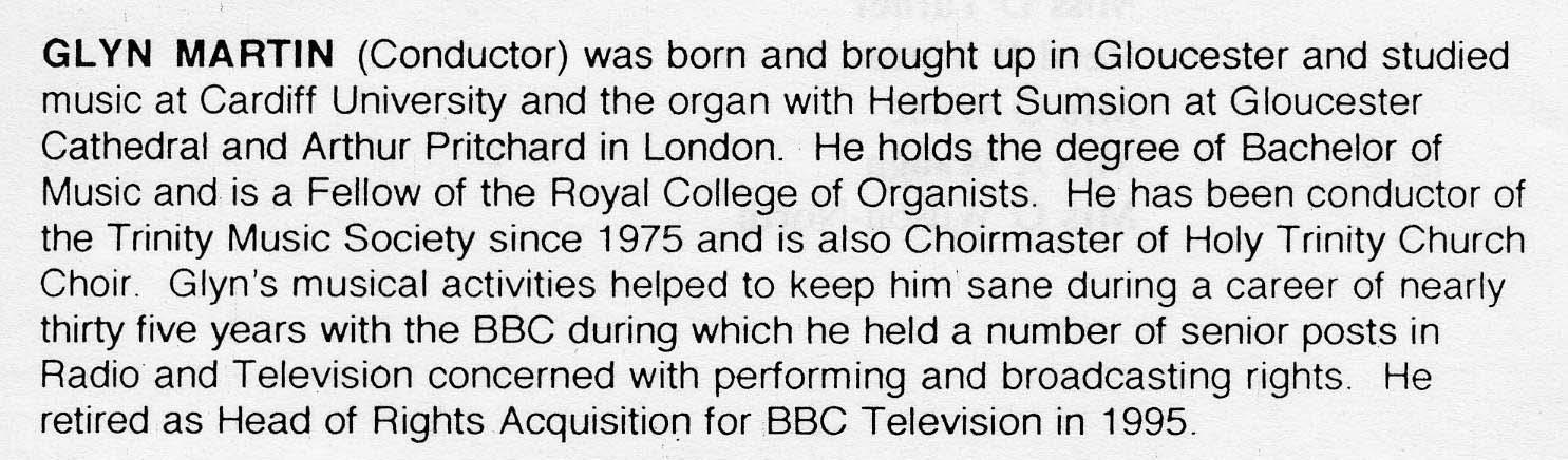 Glyn Martin's CV
