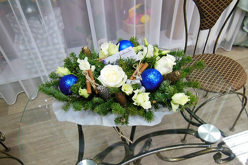 Рождественская композиция на стол