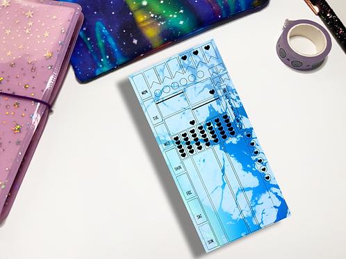 Blue Splatter Hobonichi Kit