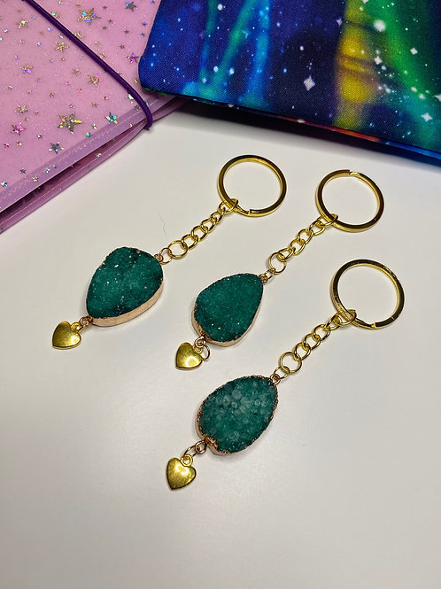 Emerald Quartz Keychain