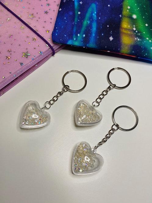Crystal Clear Heart Keychain