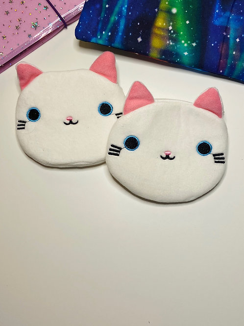 White Kitty Coin Bag