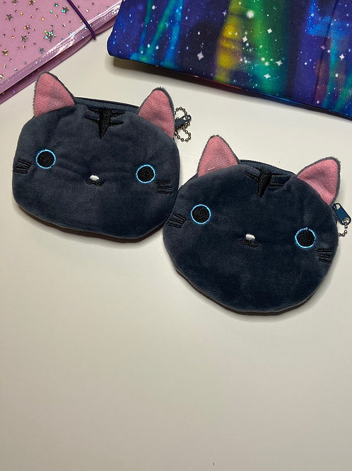 Dark Grey Kitty Coin Bag