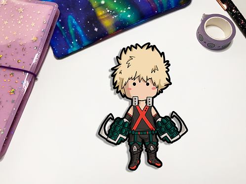 Bakugo Kawaii Vinyl Sticker