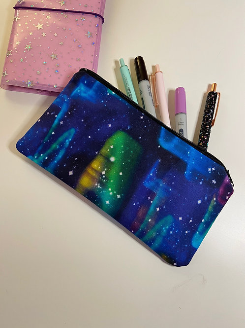 Galaxy Zipper Pencil Pouch