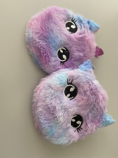 Wide eyed Unicorn Fluffy Coin Purse