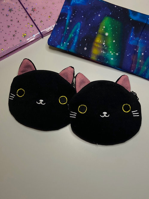 Black Kitty Coin Bag