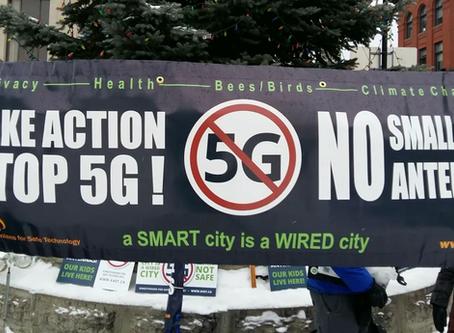 Kingstonians for Safe Technology protest against 5G networks