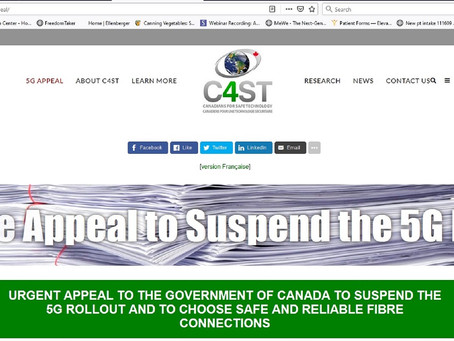 C4ST Fact-checks Government of Canada Webpages Regarding Health Risks and Wireless Technologies, inc