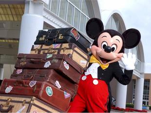 A mala de viagem para a Disney
