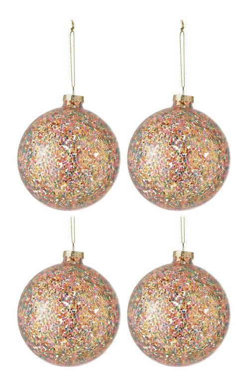 Conjunto de 4 bolas de Natal - Confettis