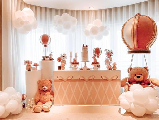 Aniversário Menina | Floating Teddy Bear
