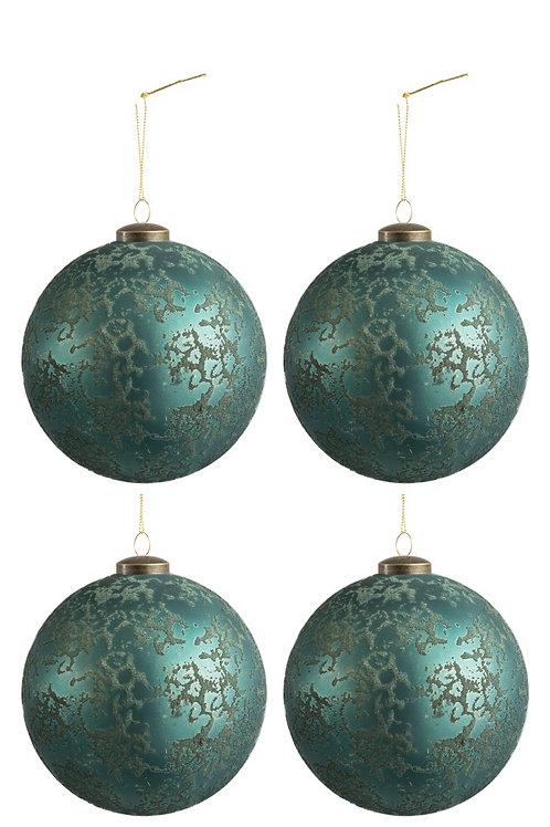 Conjunto de 4 Bolas de Natal Azure