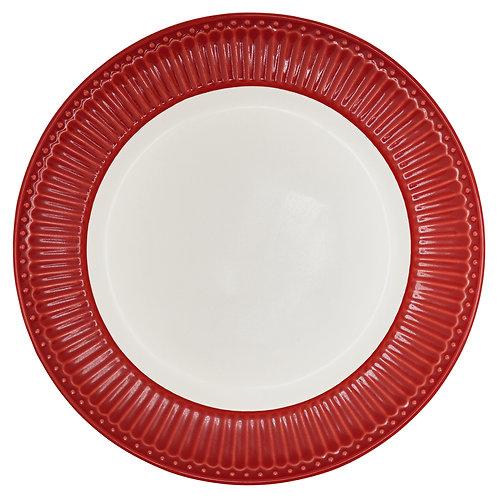 Prato Vermelho e Branco