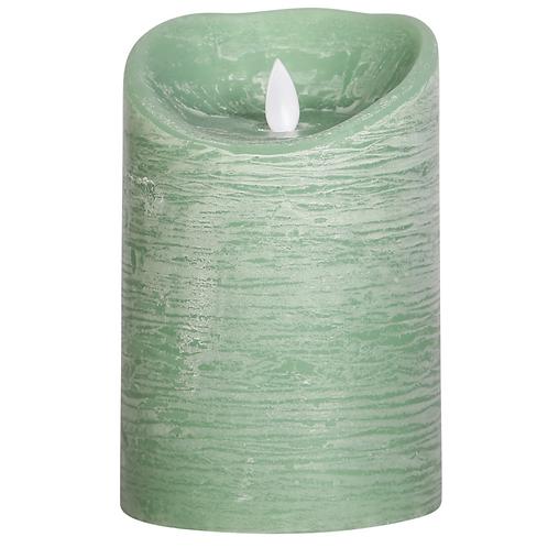 Vela rústica com Luz Led - Verde