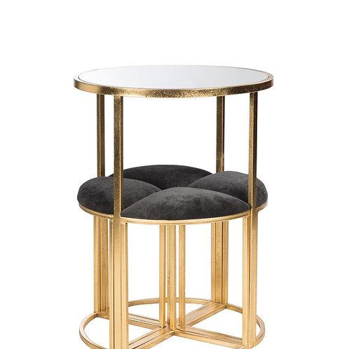 Mesa Redonda com conjunto de quatro cadeiras