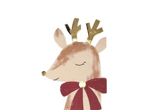 Guardanapos em Formato Rena de Natal