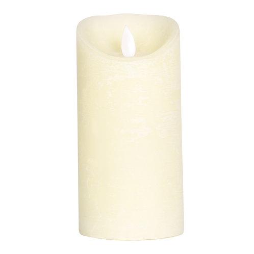 Vela rústica com Luz Led - Branca