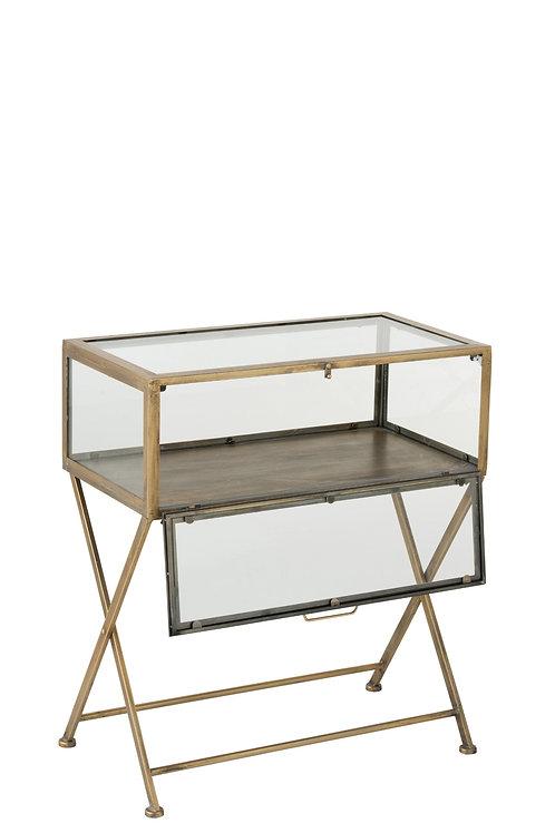 Mesa c/ porta de vidro