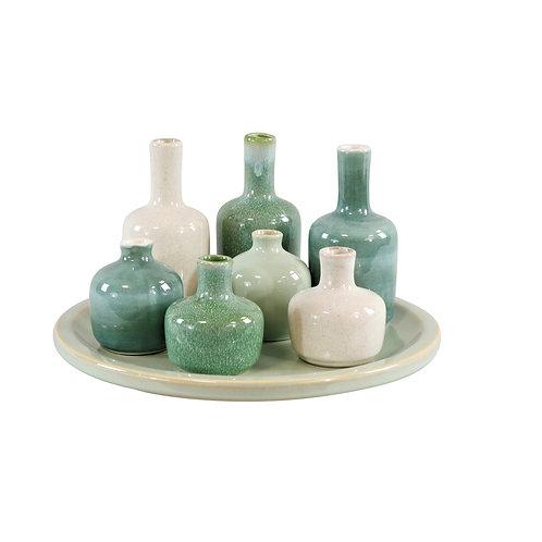 Conjunto de Vasos de Cerâmica