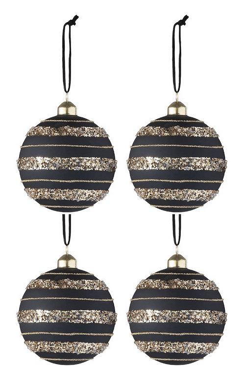 Conjunto 4 Bolas Decorativa de Natal