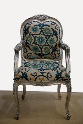 Silver Louis Chair