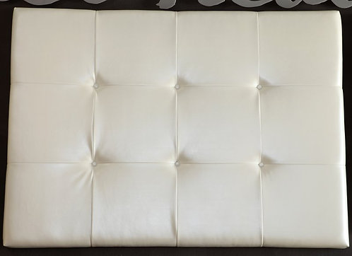Indented Button with Pleats Headboard