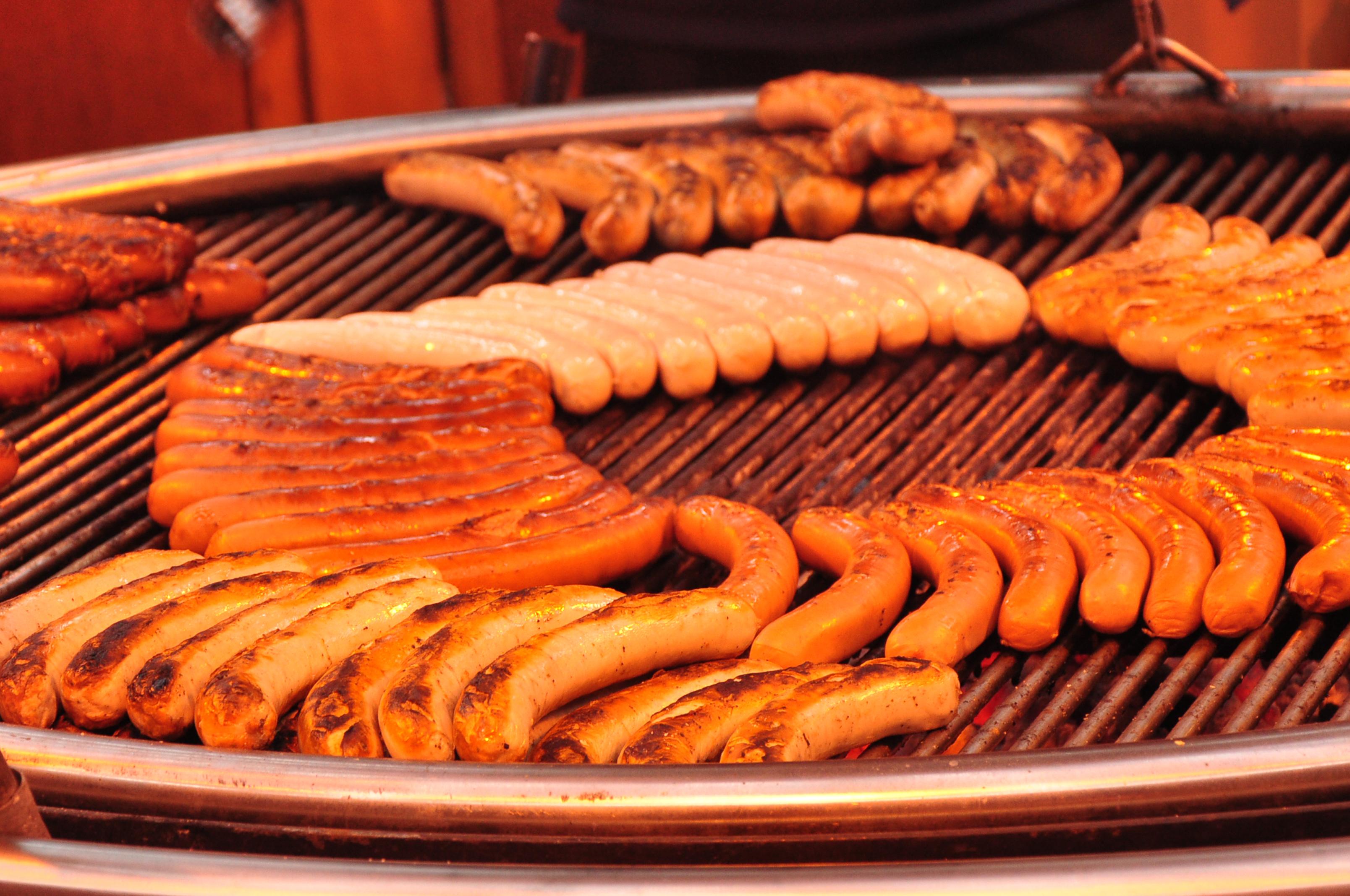 German Bratwurst Hotdog Swing Grill