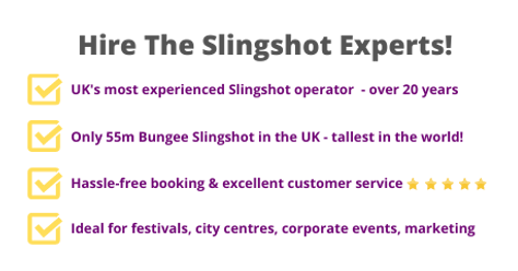 Hire Slingshot Bungee Ball ride from tghe UK'as most experienced operator