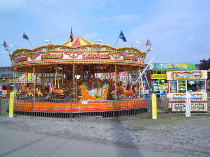 Golden Galloping Horse Carousel