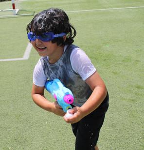 Molecular summer camp waterfight!