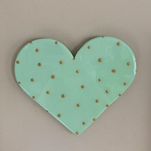 """""""Mint Green"""" Mini Heart Art"""