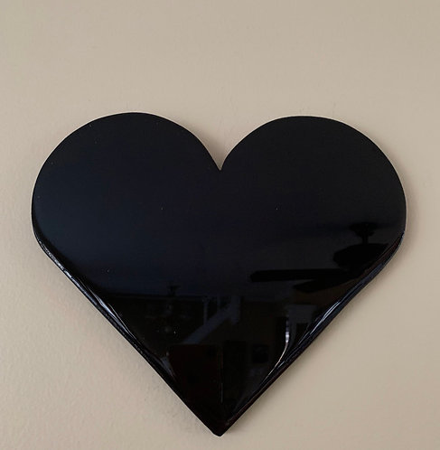 """Black"" Mini Heart Art"