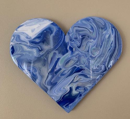 """Blue Dream"" Mini Heart Art"