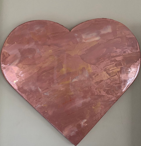 """Copper Show Stopper"" Heart Art"