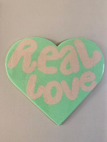 """Real Love"" Heart Art"
