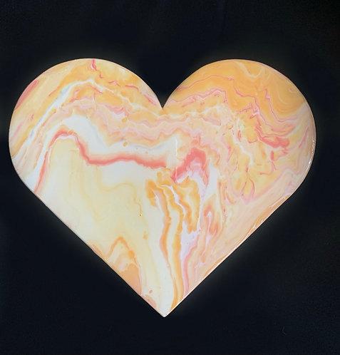 """""""Peachy"""" Mini Heart"""