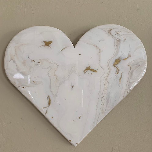 """Gold Marble"" Mini Heart"
