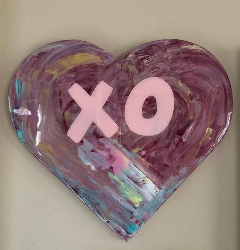 """""""XO"""" Heart Art"""