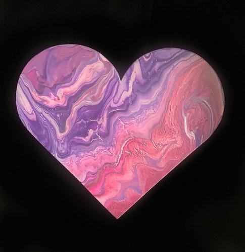 """""""Purple-ish"""" Mini Heart"""