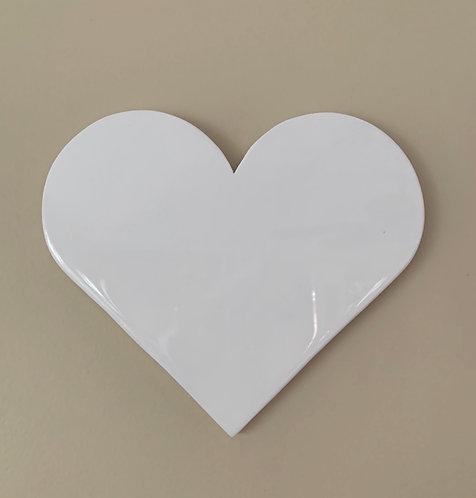 """""""White"""" Mini Heart Art"""