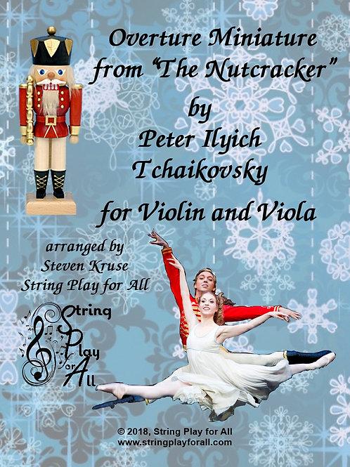 "Overture Miniature from ""Nutcracker"" for Violin & Viola"