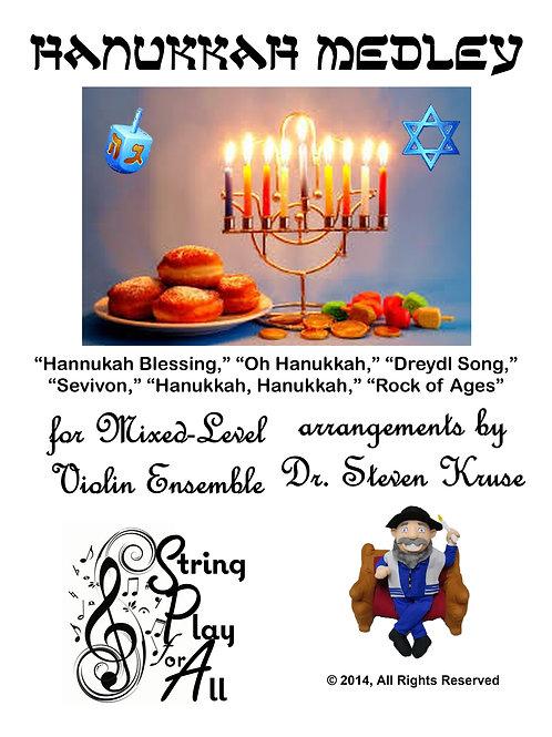 Hanukkah Medley for Mixed-Level Violin Ensemble