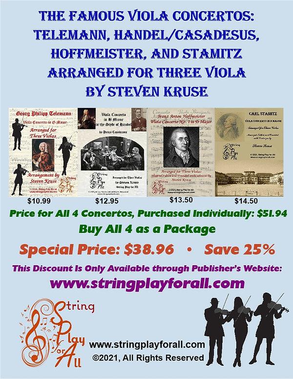 Stamitz, Handel, Telemann, Hofmeister ba