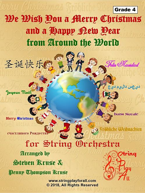 We Wish You a Merry Christmas from Around the World for String Orchestra