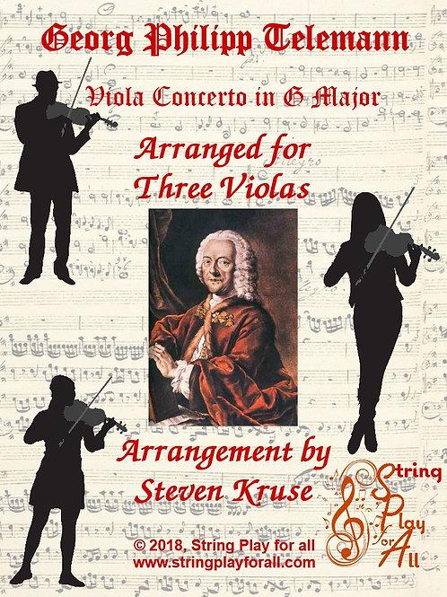 Telemann Viola Concerto for Three Violas