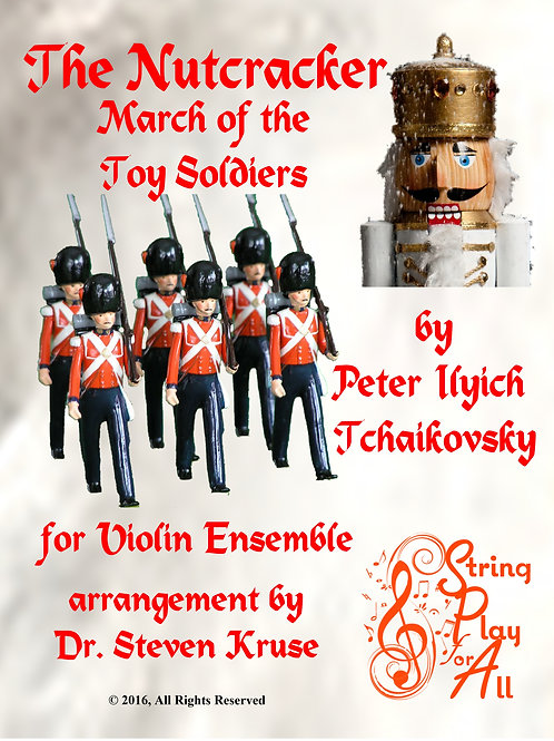 March of the Toy Soldiers from The Nutcracker for Violin Ensemble