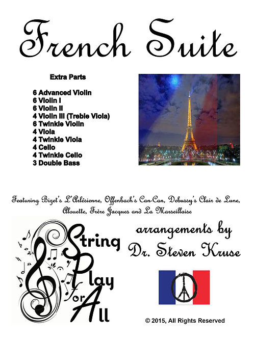 French Suite for Mixed-Level String Ensemble, Extra Parts