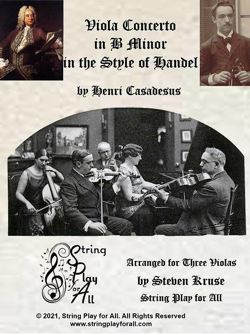 Casadesus: Viola Concerto in the Style of Handel arranged for Three Violas
